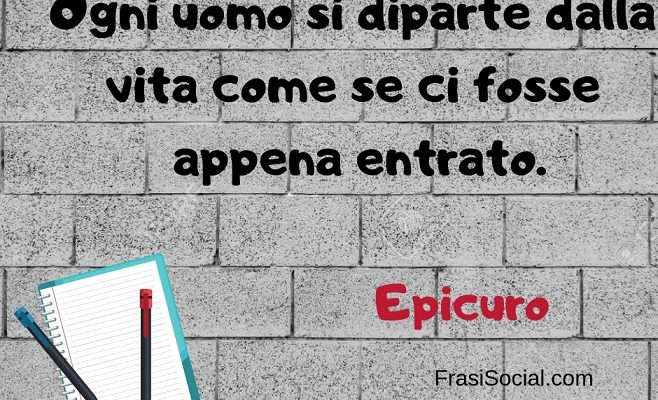Epicuro frasi